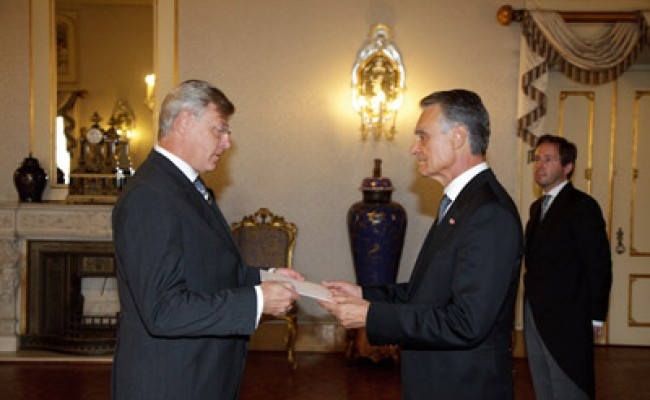 Посол Украины вручил верительные грамоты президенту Португалии