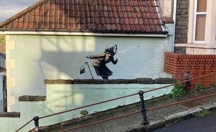 Появилось новое граффити Бэнкси