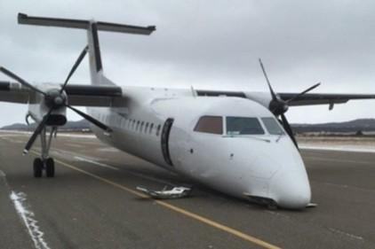 Самолет в Канаде приземлился без переднего шасси
