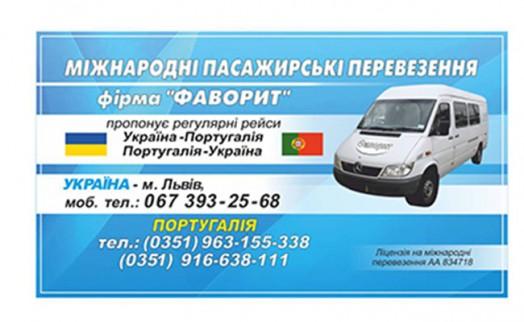 Международные пассажирские перевозки. Фирма «Фаворит»