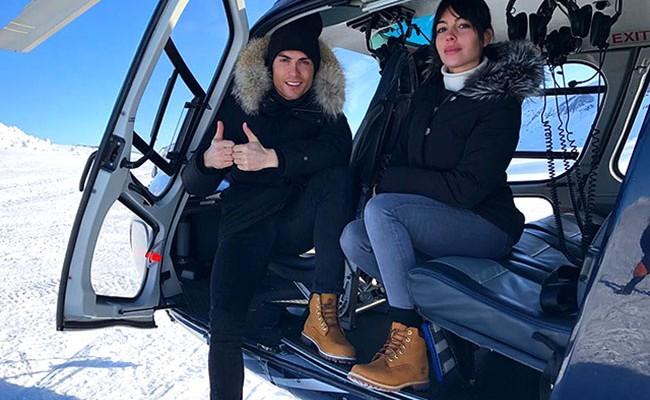 Португалия: Роналду и Джорджина Родригес отдыхают в горах