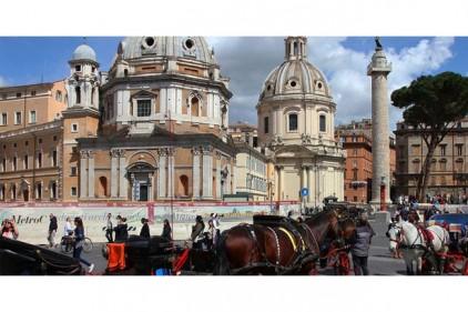 Италия: Рим запретил конные экипажи