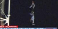 В США спасли провисевшего два часа на проводах парашютиста