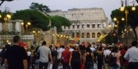 Митинг в честь годовщины Евромайдана прошел возле Колизея