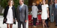 Страсть королевы Испании к коротким платьям