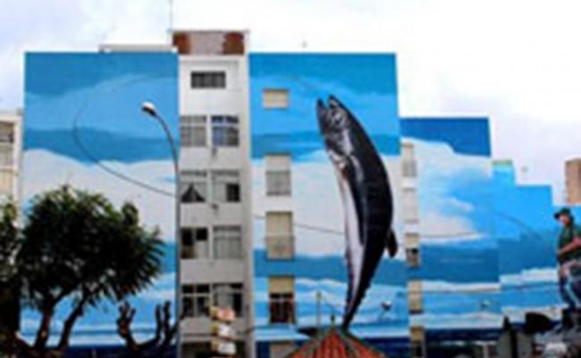 Самый большой уличный рисунок в Испании