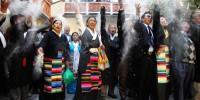 Тибетцы и последователи тибетского буддизма встречают Новый год