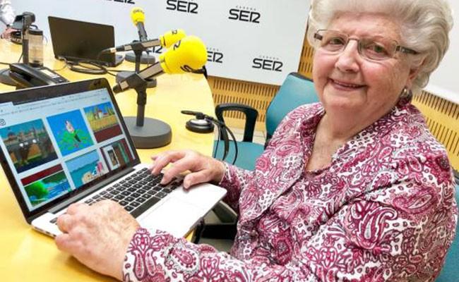 87-летняя испанка рисует картины в графическом редакторе Paint