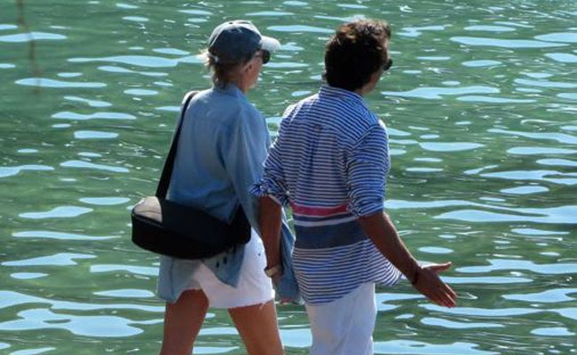 Испания: Шэрон Стоун провела отпуск на Майорке с новым бойфрендом
