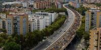 В Испании разблокировали трассу, захваченную каталонскими радикалами